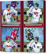 Jim Thome Hits 600th Home Run Canvas Print by Ray Tapajna