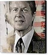 Jimmy Carter Canvas Print by Corporate Art Task Force