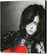 'jimmy Page' Canvas Print by Christian Chapman Art