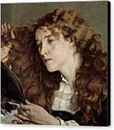 Jo The Beautiful Irish Girl Canvas Print by Gustave Courbet