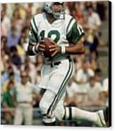Joe Namath Canvas Print by Paint Splat