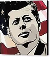 John F. Kennedy 1st Irish Catholic President  Canvas Print by Dancin Artworks