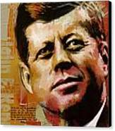 John F. Kennedy Canvas Print by Corporate Art Task Force