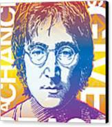 John Lennon Pop Art Canvas Print by Jim Zahniser