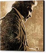 Johnny Cash Artwork Canvas Print by Sheraz A