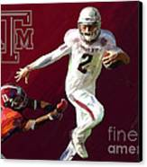 Johnny Football Canvas Print by GCannon