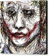 Joker - Interrogation Canvas Print by Rachel Scott