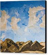 Joshua Tree National Park And Summer Clouds Canvas Print by Carolina Liechtenstein
