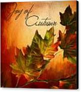 Joy Of Autumn Canvas Print by Lourry Legarde