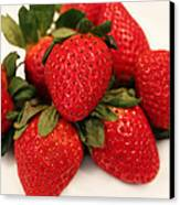Juicy Strawberries Canvas Print by Barbara Griffin