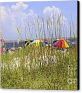 July 4th On The Beach Canvas Print by William Bosley