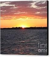 July 4th Sunset Canvas Print by John Telfer