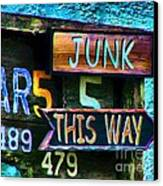 Junk This Way Canvas Print by Julie Dant