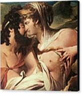 Jupiter And Juno On Mount Ida Canvas Print by James Barry