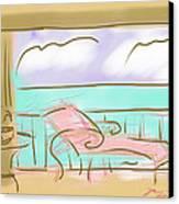 Jupiter Balcony Canvas Print by Jean Pacheco Ravinski