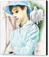 Just Audrey Canvas Print by Mo T
