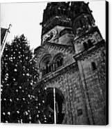 Kaiser Wilhelm Gedachtniskirche Memorial Church And Christmas Tree Berlin Germany Canvas Print by Joe Fox
