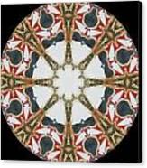 Kaleidoscope Wheel Canvas Print by Cathy Lindsey