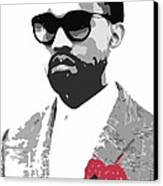 Kanye West Canvas Print by Mike Maher