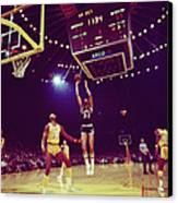 Kareem Jump Shot Canvas Print by Retro Images Archive