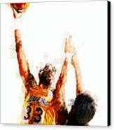 Kareem Abdul Jabbar N B A Legend Canvas Print by Daniel Hagerman