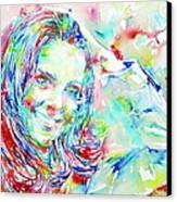 Kate Middleton Portrait.1 Canvas Print by Fabrizio Cassetta