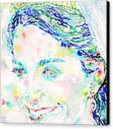 Kate Middleton Portrait.2 Canvas Print by Fabrizio Cassetta