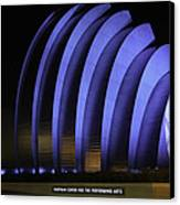 Kauffman Center Of Performing Arts During All-star Week Canvas Print by Raye Pond