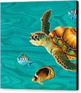 Kauila Sea Turtle Canvas Print by Emily Brantley