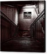 Keep Out Danger Of Drowning Canvas Print by Bob Orsillo