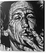 Keith Richards Canvas Print by Steve Hunter