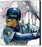 Ken Griffey Jr. Canvas Print by Michael  Pattison