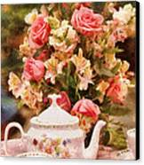 Kettle - More Tea Milady  Canvas Print by Mike Savad