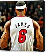 King James Canvas Print by Florian Rodarte
