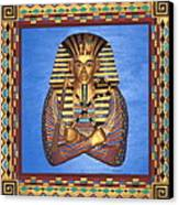 King Tut - Handcarved Canvas Print by Michael Pasko