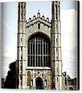 King's College Chapel - Poster Canvas Print by Stephen Stookey