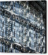 Kings Cross St Pancras Windows Canvas Print by Joan Carroll