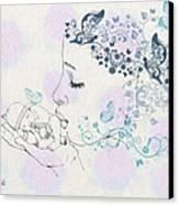Kiss To A New Born Canvas Print by Barbara Orenya