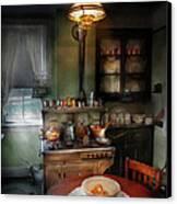 Kitchen - 1908 Kitchen Canvas Print by Mike Savad