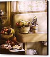 Kitchen - A 1930's Kitchen  Canvas Print by Mike Savad
