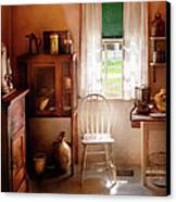 Kitchen - A Cottage Kitchen  Canvas Print by Mike Savad