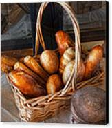 Kitchen - Food - Bread - Fresh Bread  Canvas Print by Mike Savad