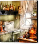 Kitchen - Momma's Kitchen  Canvas Print by Mike Savad