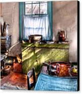 Kitchen - Old Fashioned Kitchen Canvas Print by Mike Savad