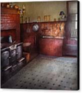 Kitchen - Storybook Cottage Kitchen Canvas Print by Mike Savad