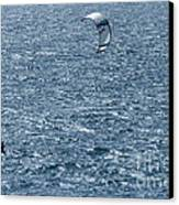 Kite Surfing Canvas Print by Brian Roscorla