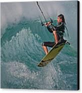 Kiting Los Lances Canvas Print by AJM Photography