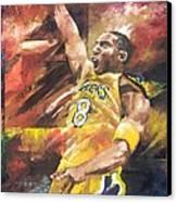 Kobe Bryant  Canvas Print by Christiaan Bekker
