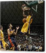 Kobe Bryant Dunk Canvas Print by Mountain Dreams
