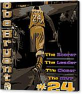 Kobe Bryant Game Over Canvas Print by Israel Torres
